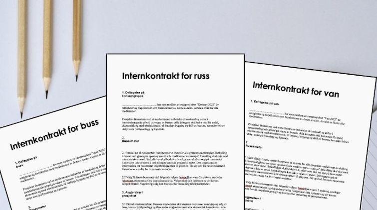 Internkontrakt til russ